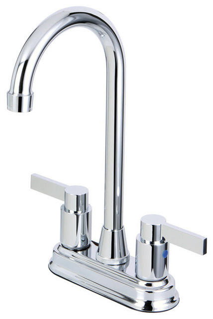 Two Handle 4 Inch Centerset Bar Faucet Contemporary Bar Faucets