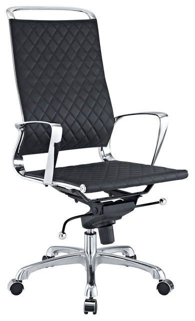 modern leather high back office chair black contemporary office chairs