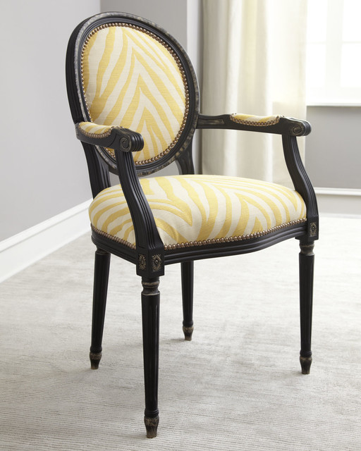 Gretna yellow armchair contemporary dining chairs by for Modern yellow dining chairs