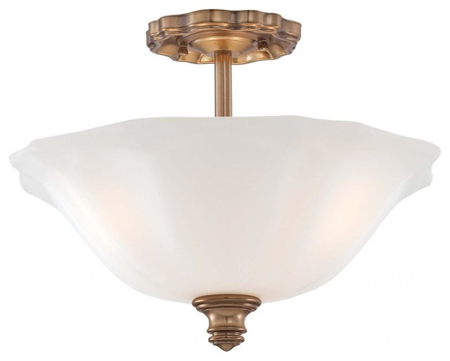 Cheshire Gold 3 Light Semi-Flush Ceiling Fixture From The