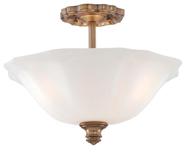 Semi Flush Ceiling Lights Glass Brass Fixture Bathroom: Cheshire Gold 3 Light Semi-Flush Ceiling Fixture From The