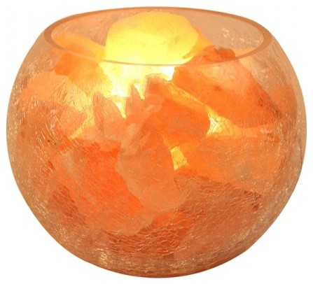Air Purifying Glass Bowl Himalayan Crystal Salt Lamps - Traditional - Table Lamps - raleigh - by ...