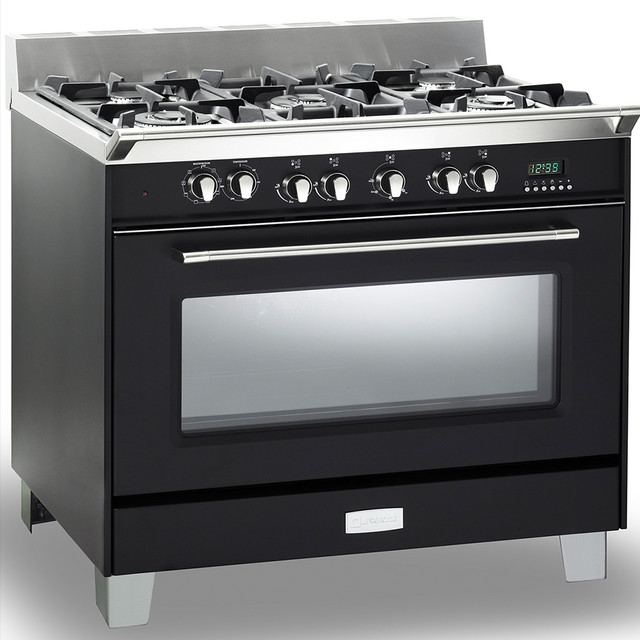 36 quot dual fuel single oven range modern gas ranges and electric ranges