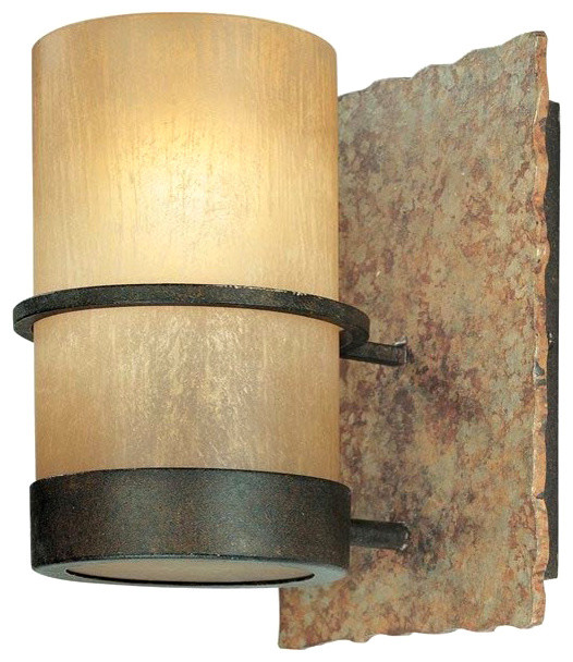 Troy Lighting Bamboo Wall Sconce, 1-Light rustic-bathroom-vanity-lighting
