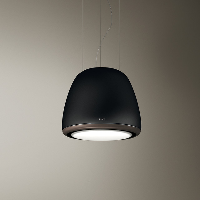 Black Suspended Diva Hood Contemporary Extractor Hoods