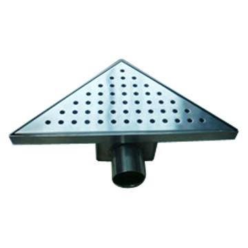 Triangular shaped corner shower drain