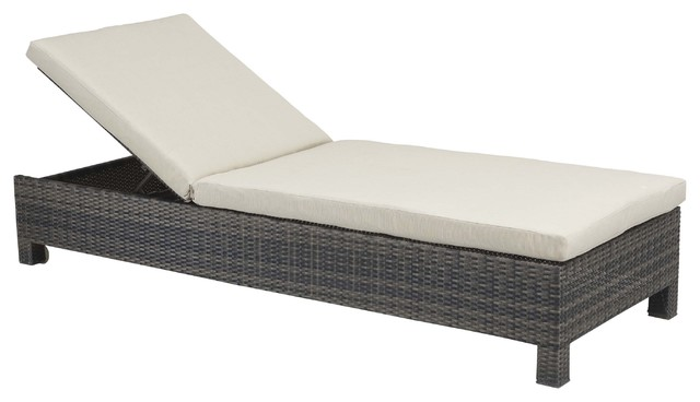 Zuo tribune bay beige chaise lounge contemporary for Bay window chaise lounge