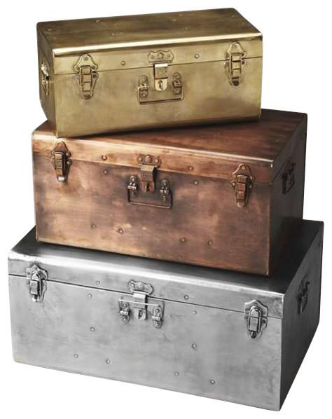 Butler storage trunk set hors d 39 oeuvres r stico - Baules decorativos ...
