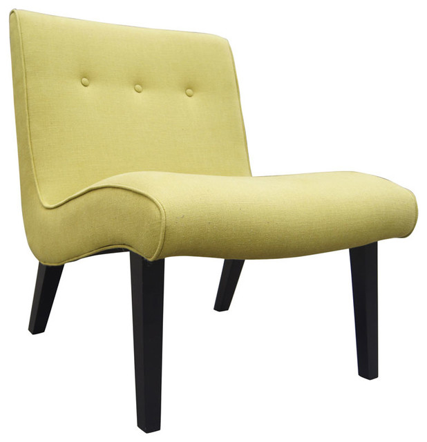 Anoka Accent Chair Green Contemporary Armchairs And