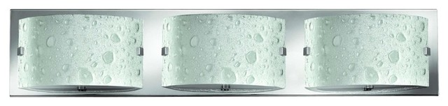 Art Glass Vanity Light : 5923CM Daphne Bath Vanity Light, Chrome, Bubble Art Glass - Contemporary - Bathroom Vanity ...