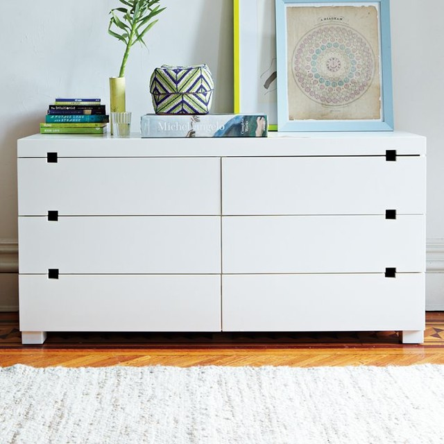 Square Cutout 6 Drawer Dresser Modern By West Elm