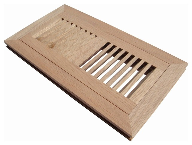 Flush Mount Wood Floor Vent Register Unfinished Ultiple