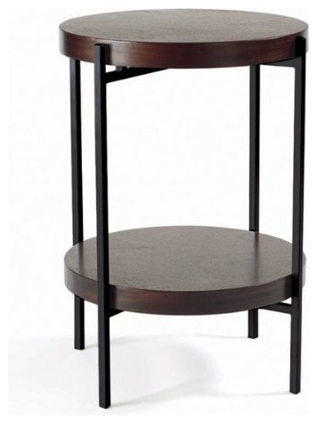 martini end table in java oak contemporary side tables and end tables