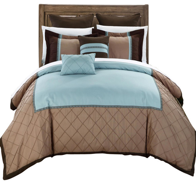 Greensville green and brown queen 11 piece comforter bed - Green and brown comforter ...