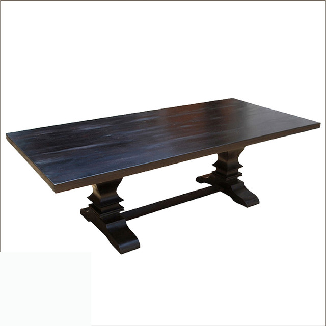 Custom Farmhouse Trestle Dining Table Contemporary Dining Tables austin