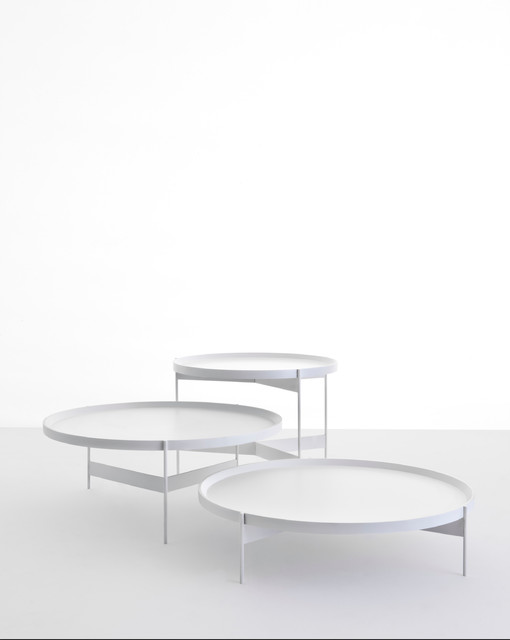 Abaco Modern Round Cocktail Table Portable Tray Modern Coffee Tables By Studio Verticale