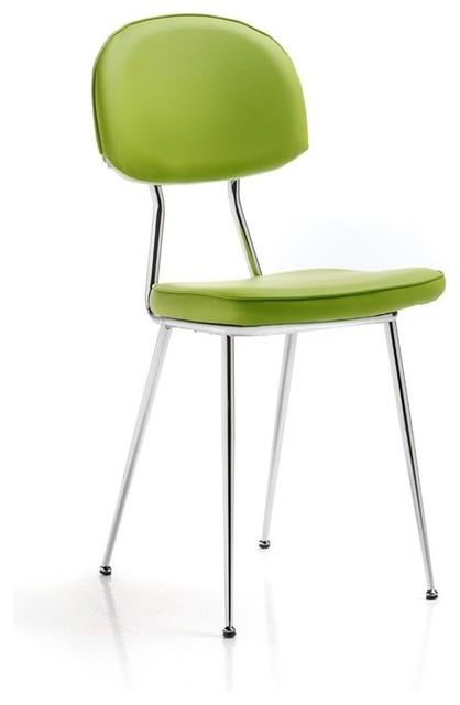 Altek Italia Anni 60 Chair Green Contemporary Dining