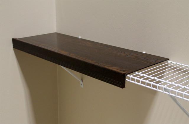 Decorative Wall Shelves Espresso : Inch renew shelf kit in espresso finish contemporary