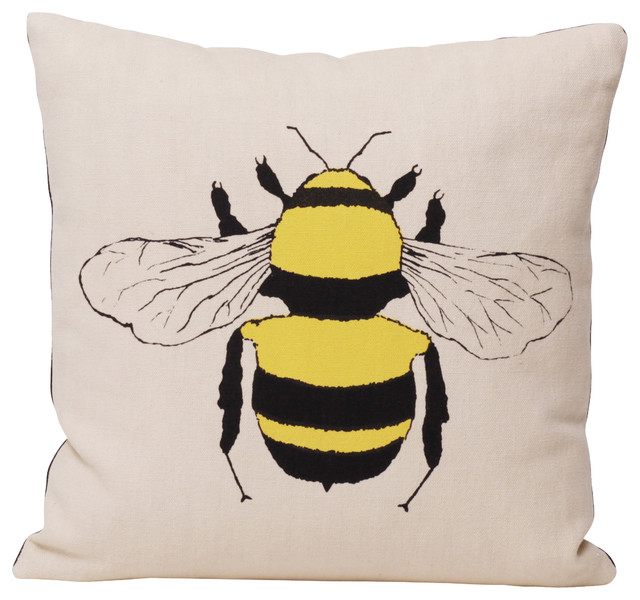 Bee Pillow - Contemporary - Decorative Pillows - by BRIKA Inc.