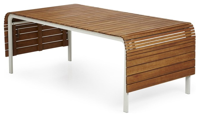 Extenso table de jardin extensible 12 14 couverts contemporain table - Table de jardin contemporaine ...