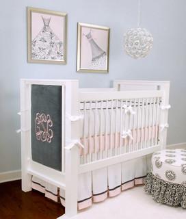 Innocence 3 Piece Crib Bedding Set Modern Cot Bedding By Rosenberry Rooms