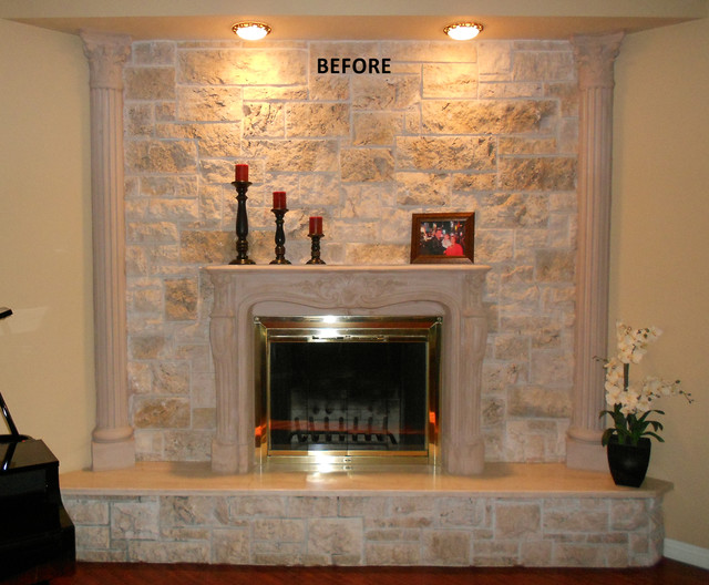 Fireplaces faux marble finish granite etc traditional indoor fireplaces los angeles - Fireplace finish ideas ...