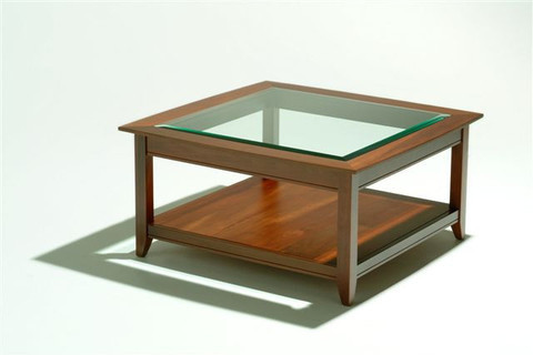 Homestead range shaker coffee table 2 with bevelled glass for Coffee tables auckland new zealand