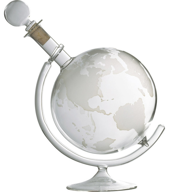 Wine Enthusiast Etched Globe Spirits Decanter - Decanter - Glass Base - Decanter - Contemporary ...