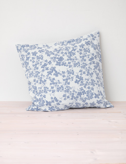 Eclectic Pillow Cases : Meadow, Indigo Blue Cushion Cover - Eclectic - Pillowcases And Shams - other metro - by Secret ...