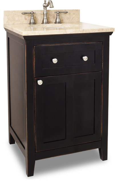 Catham Shaker Jeffrey Alexander Vanity 24 X 22 X 36 Traditional Bathroom Vanities And Sink