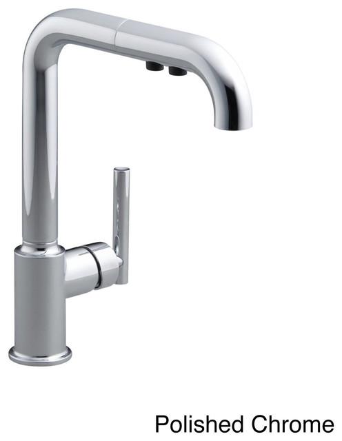 Kohler Purist Primary Single Hole Kitchen Sink Faucet Spout Contemporary Kitchen Mixers