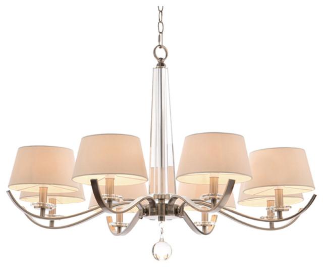 john richard 8 light curvaceous chandelier ajc 8801. Black Bedroom Furniture Sets. Home Design Ideas