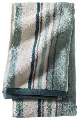 Threshold Stripe Hand Towel Turquoise Modern Towels