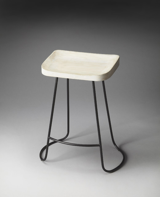 Artifacts Bar Stool With Black Wire Base Transitional