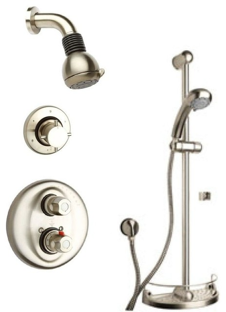 Water Harmony Shower Combination 3 In Brushed Nickel Contemporary Tub And Sho