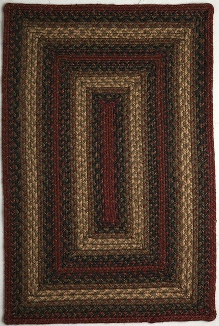 "Braided Vancouver 2 3""x3 9"" Rectangle Rust Black Area Rug"