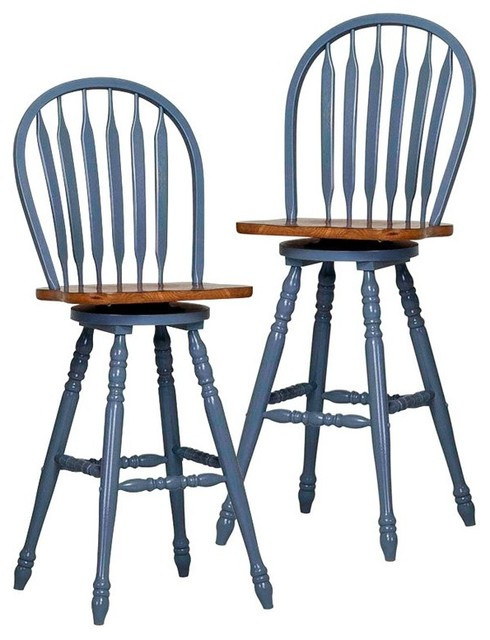 Cross creek large bow back windsor counter stool set of 2 eci222 contemporary bar stools - Windsor back counter stools ...