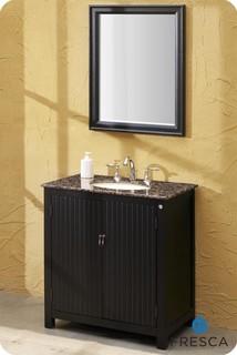 Fresca lynx classic single sink bathroom vanity w baltic for Decorplanet bathroom vanities