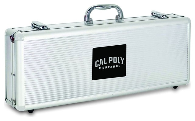 Cal Poly Fiero Barbecue Tools Set - Modern - Grill Tools & Accessories