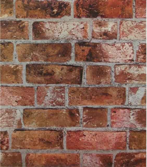 Brick Faux Texture Wallpaper Industrial Wallpaper