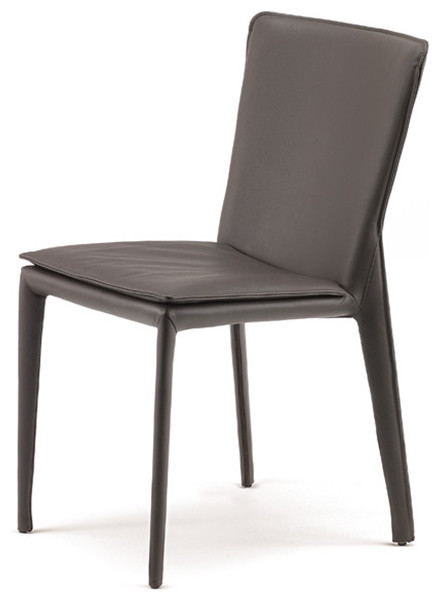 leather dining chair by cattelan italia modern dining chairs