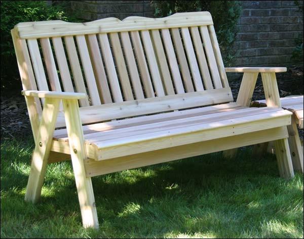 6 39 Red Cedar Southern English Garden Bench Contemporary