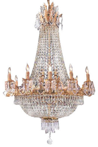 French Empire Crystal Chandelier Traditional