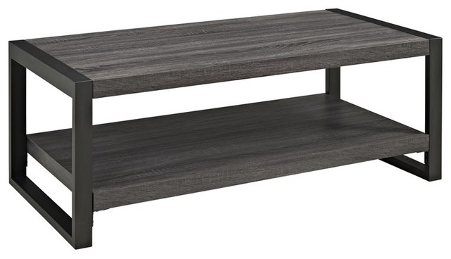 Walker edison angelo home 48 coffee table in charcoal for Charcoal coffee table