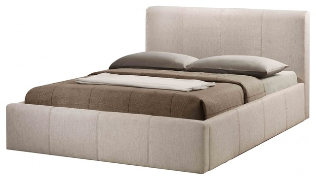 Bonsoni stylish upholstered small double brooklyn ottoman for Divan upholstered bed
