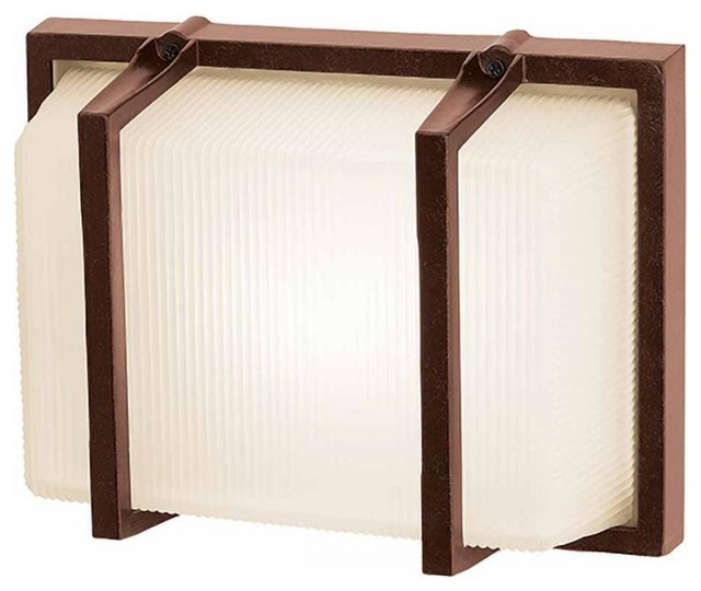 Ribbed Frosted Height 1 Light Ambient Lighting Marine Grade Contempor