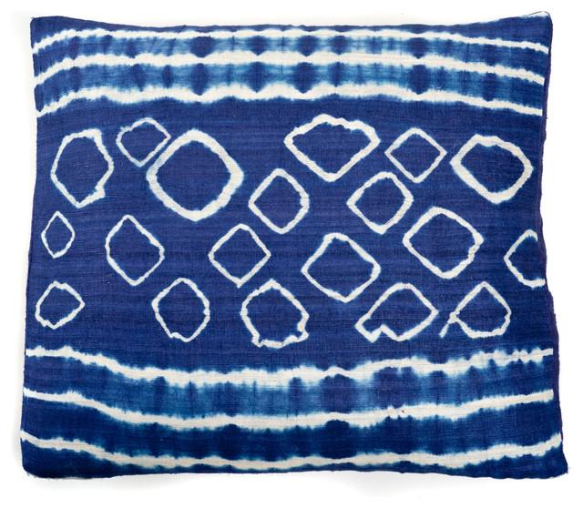 Decorative Pillows Indigo : Indigo Pebble Throw Pillow - Contemporary - Decorative Pillows - by Jiti