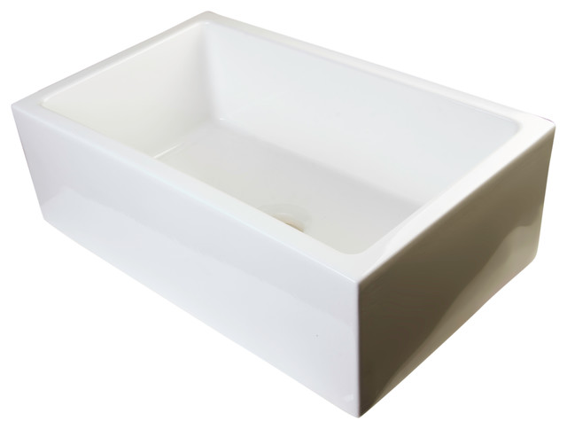 ... Thick Wall Fireclay Single Bowl Farm Sink traditional-kitchen-sinks