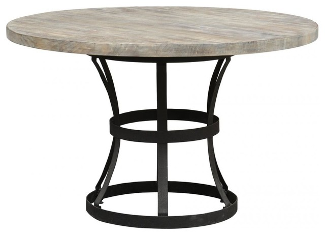 50 Round Rustic Industrial Style Dining Table Industrial Dining Tab