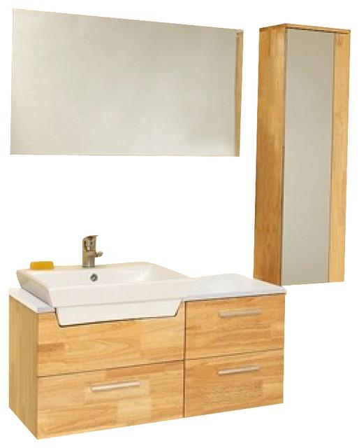 35 5 Inch Natural Wood Modern Bathroom Vanity Modern Bathroom Vanity Units Sink Cabinets